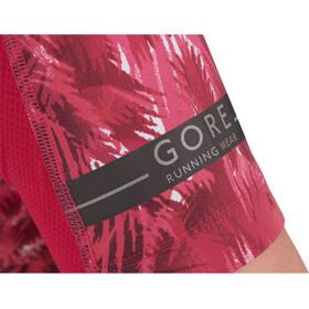 GORE RUNNING WEAR AIR PRINT Fietsshirt Korte Mouwen Dames, jazzy pink